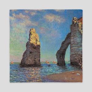 Etretat Cliffs By Monet Queen Duvet
