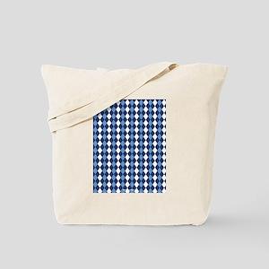 UNC Carolina Blue Basketball Argyle Tote Bag