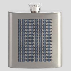 UNC Carolina Blue Basketball Argyle Flask