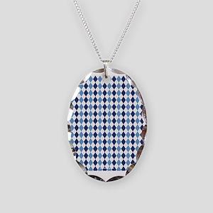 UNC Argyle Carolina Blue Tarhe Necklace Oval Charm