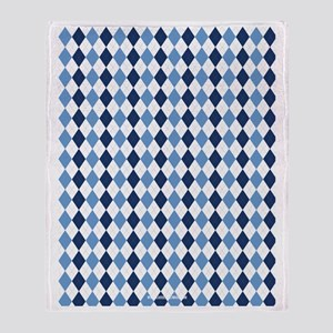 UNC Argyle Carolina Blue Tarheel Throw Blanket