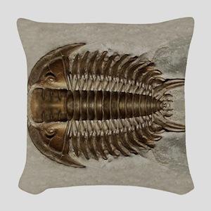 Trilobite Fossil Woven Throw Pillow