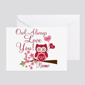 Owl always love you greeting cards cafepress owl always love you greeting card m4hsunfo