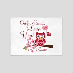 Owl Always Love You 5'x7'Area Rug