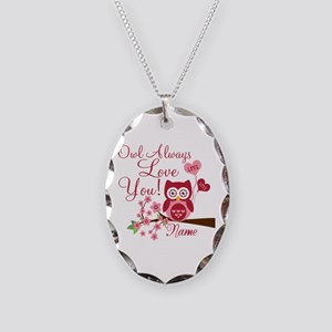 Owl Always Love You Necklace Oval Charm