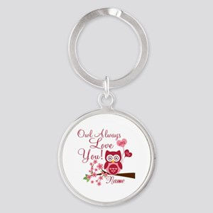 Owl Always Love You Round Keychain