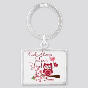 Owl Always Love You Landscape Keychain