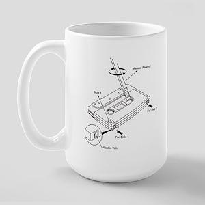 old skool cassette Large Mug