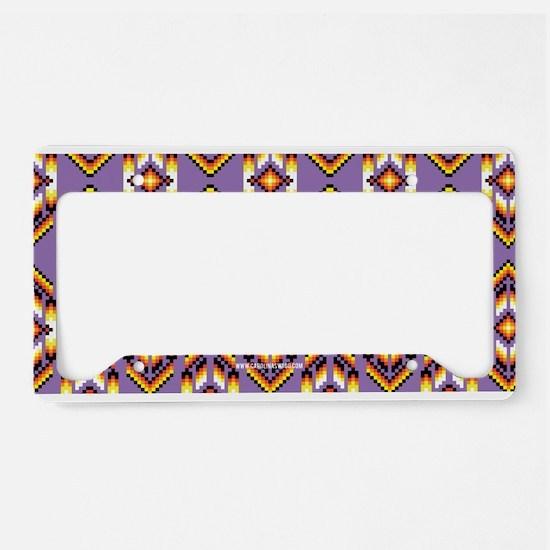 Native American Design Purple License Plate Holder