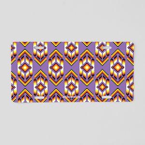 Native American Design Purple Aluminum License Pla
