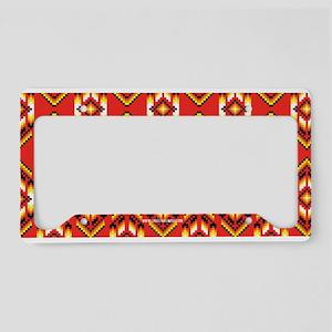 Native American Design Fire License Plate Holder