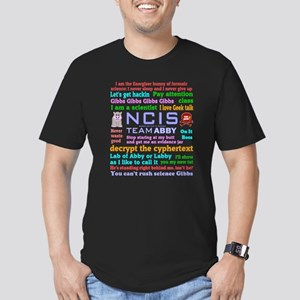 NCIS Abby Quotes Men's Fitted T-Shirt (dark)