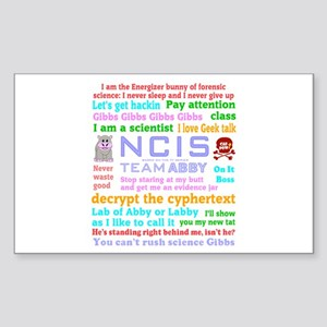 NCIS Abby Quotes Sticker (Rectangle)