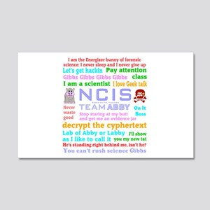 NCIS Abby Quotes 20x12 Wall Decal