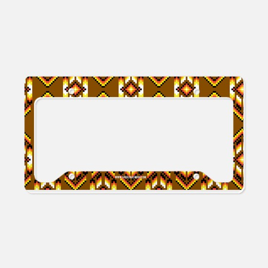 Native American Design Earth License Plate Holder