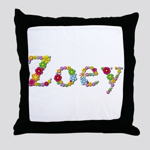 Zoey Bright Flowers Throw Pillow