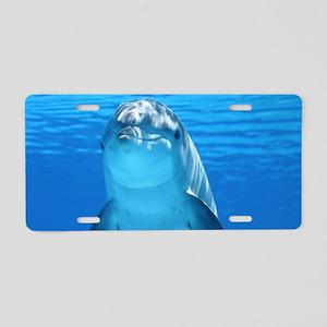 Dolphin 001 Aluminum License Plate