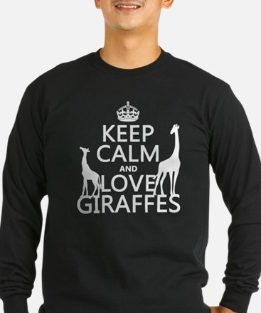 Keep Calm and Love Giraffes Long Sleeve T-Shirt
