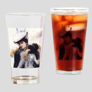 Vintage Winter Bride Drinking Glass