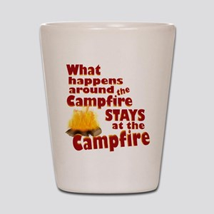 campfire fun Shot Glass