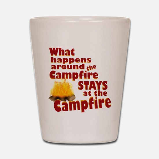 campfire fun Shot Glass