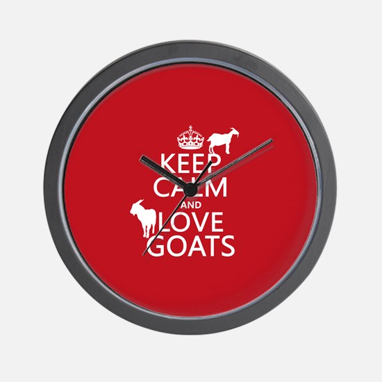 Keep Calm and Love Goats Wall Clock