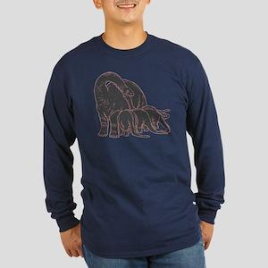 Dinosaurs Family Long Sleeve Dark T-Shirt