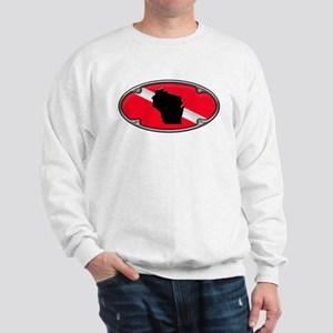 Wisconsin Framed Dive Flag Sweatshirt