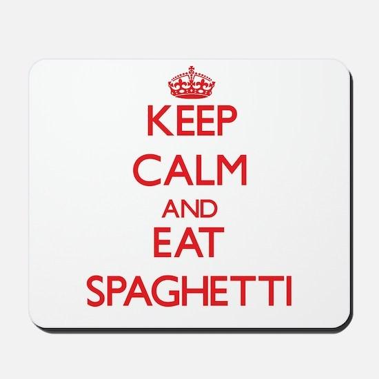 Keep calm and eat Spaghetti Mousepad