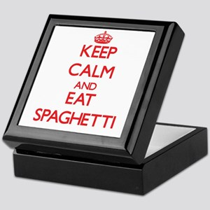 Keep calm and eat Spaghetti Keepsake Box