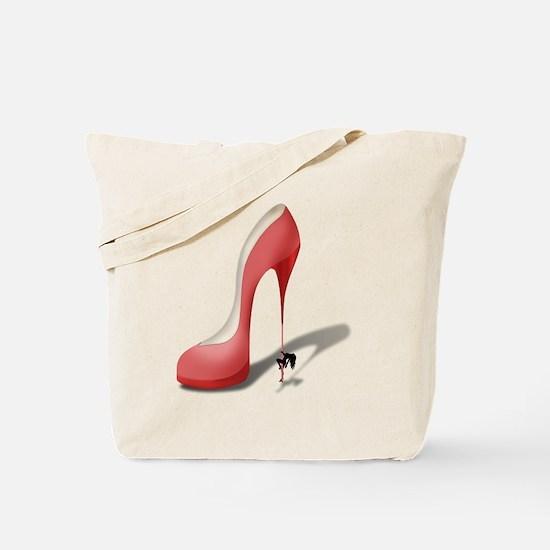 Giant Red Stiletto - Stripper Pole Heel Tote Bag