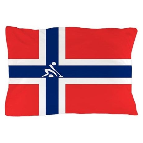 Team Curling Norway Pillow Case