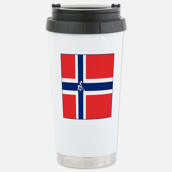 Team Curling Norway Stainless Steel Travel Mug