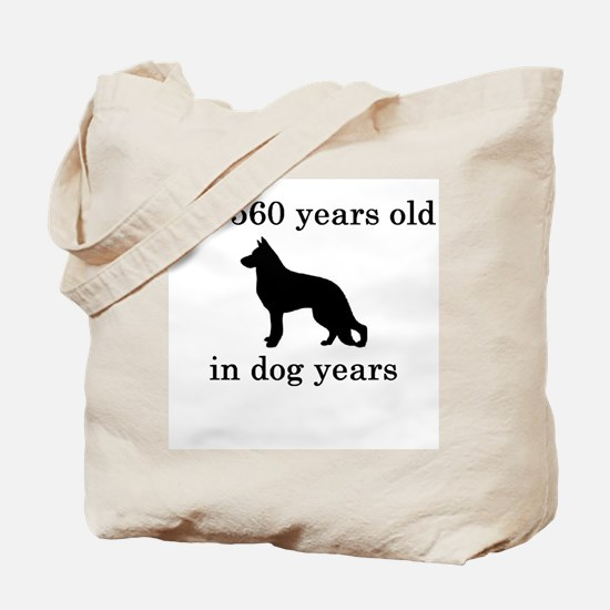 80 birthday dog years german shepherd black Tote B