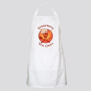 Surrender Yer Grill Red BBQ Apron