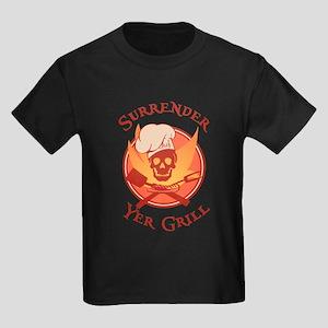 Surrender Yer Grill Red Kids Dark T-Shirt