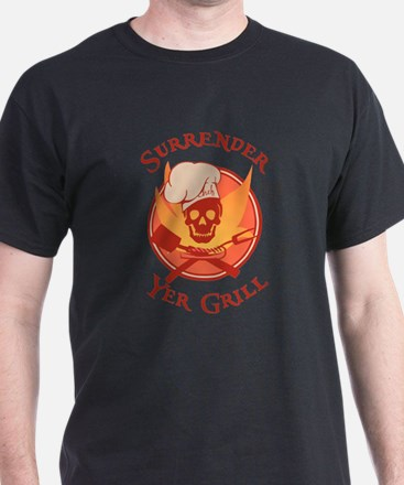 Surrender Yer Grill Red T-Shirt
