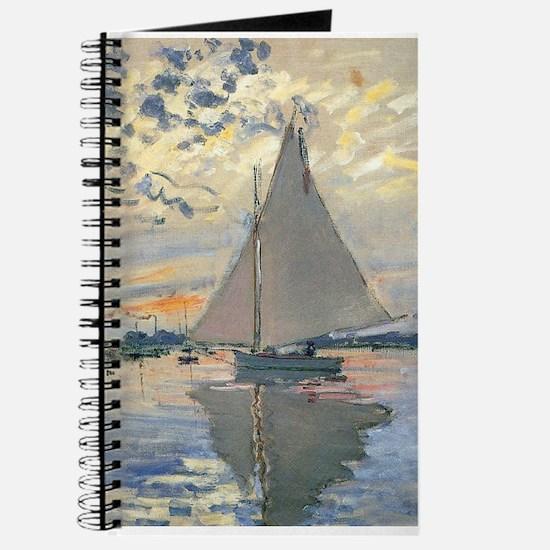 Monet Sailboat French Impressionist Journal
