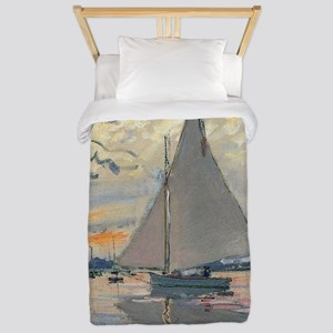 Monet Sailboat French Impressionist Twin Duvet