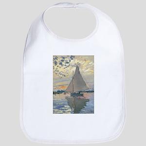 Monet Sailboat French Impressionist Bib