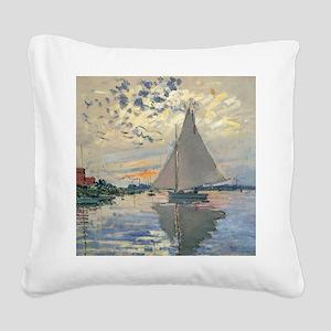 Monet Sailboat French Impressionist Square Canvas