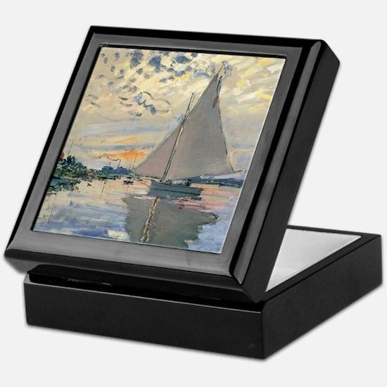 Monet Sailboat French Impressionist Keepsake Box