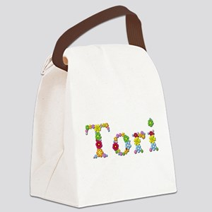 Tori Bright Flowers Canvas Lunch Bag