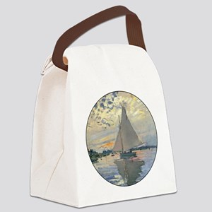 Monet Sailboat French Impressionist Canvas Lunch B