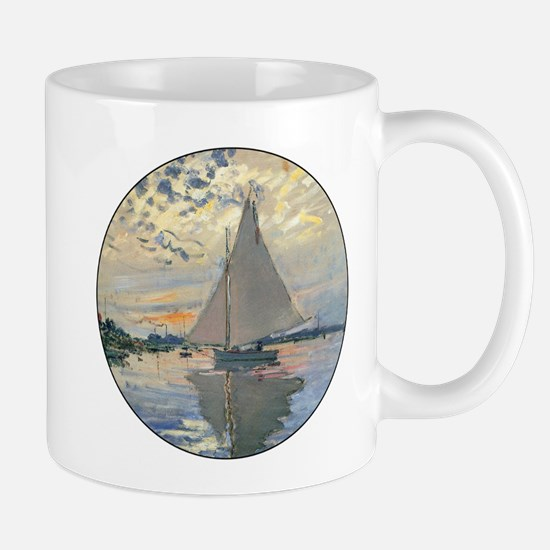 Monet Sailboat French Impressionist Mugs