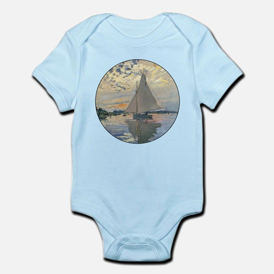 Monet Sailboat French Impressionist Body Suit