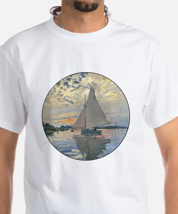 Monet Sailboat French Impressionist T-Shirt