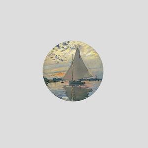 Monet Sailboat French Impressionist Mini Button
