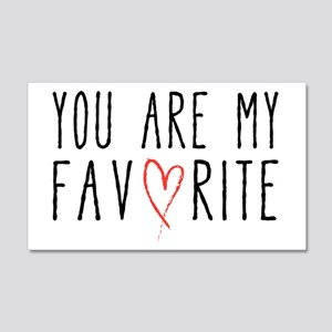 You are my favorite with red heart Wall Decal