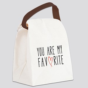 You are my favorite with red heart Canvas Lunch Ba
